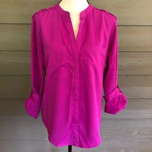 Sanctuary Stitch Fix 3/4 Sleeves Button-Down Top